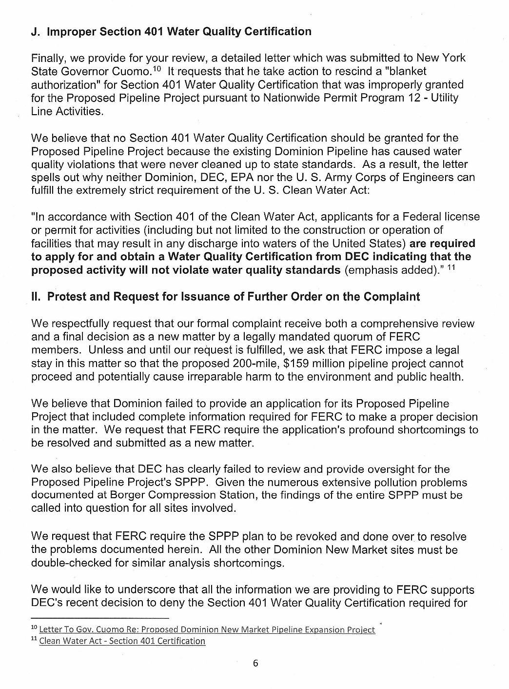 Letter From Town Of Dryden To Ferc Re Borger Compressor Station 3