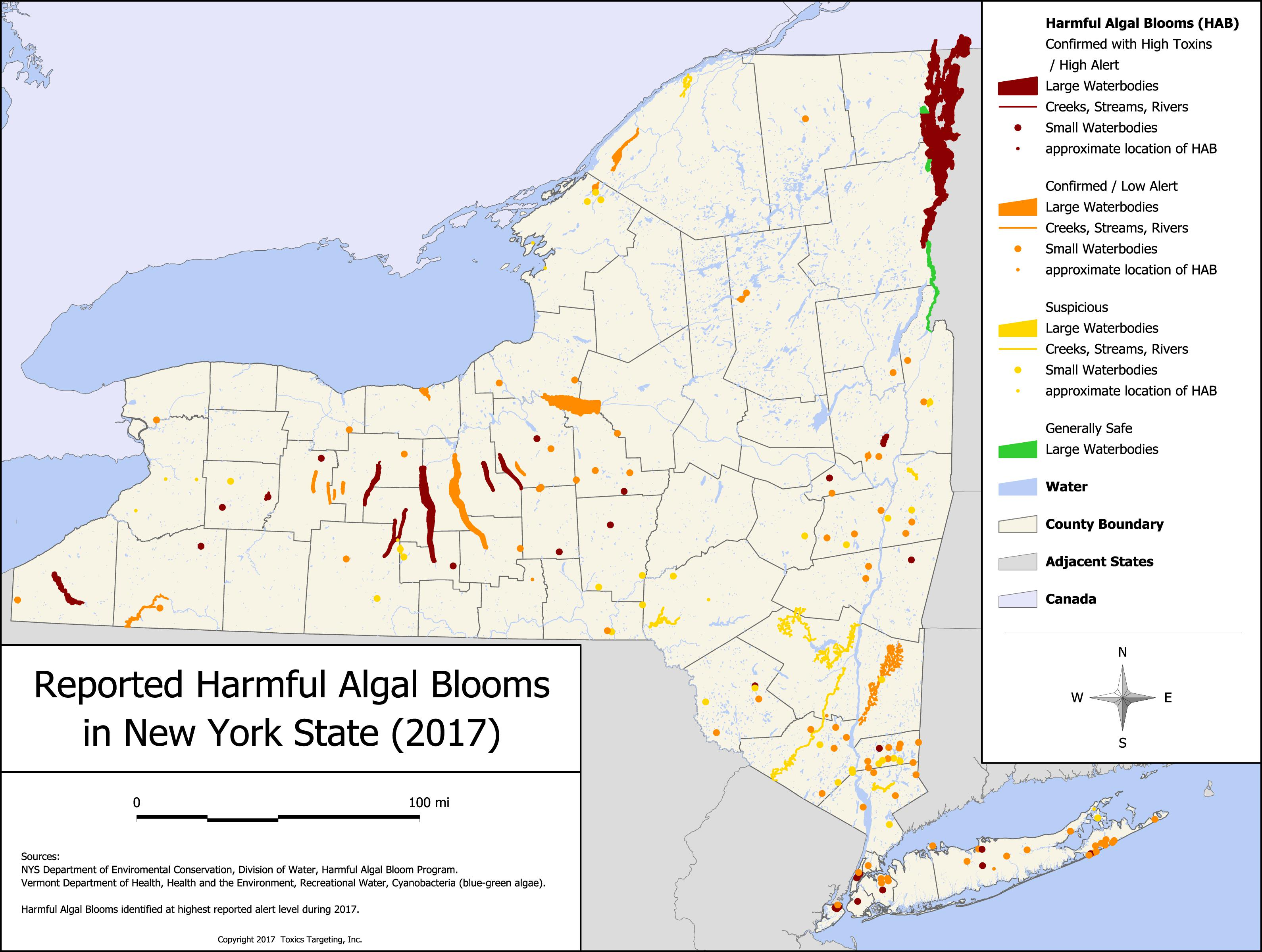 Map and database of reported harmful algal blooms in new york state click here to download this map as a pdf 10 mb gumiabroncs Choice Image